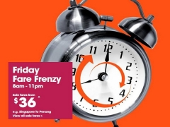 It's Friday Fare Frenzy from SGD36 with Jetstar