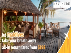 Fly to Maldives with Tigerair from SGD198