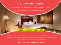 Save 15% When Book 21 Days in Advance at The Royale Chulan