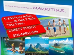 Celebrate School Holidays with Air Mauritius from SGD835