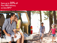 Save 30% Off Plus FREE Delivery with Avis