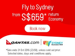 Fly to Sydney from SGD659 with Qantas Airways