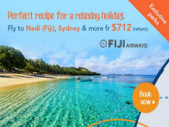 Special Fares with Fiji Airways from SGD712 via Zuji