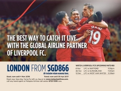 Fly to London from SGD866 with Malaysia Airlines