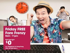 It's Friday FREE Frenzy: Fly Around Asia from SGD0 with Jetstar
