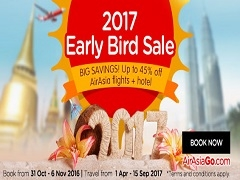 Up to 45% Off on AirAsiaGo with 2017 Early Bird Sale