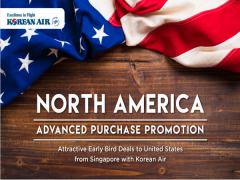 Advance Purchase Promo to North America with Korean Air from SGD1,299