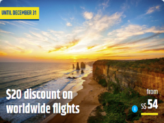 SGD20 Discount on Worldwide Flights via CheapTickets.sg and Maybank