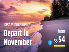 Book Now and Depart this November with Great Deals via CheapTickets.sg