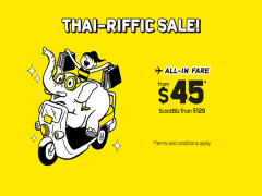 Scoot to Bangkok with Thai-riffic Seat Sale from SGD45