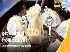 Fly to China from SGD78 with Tigerair