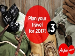 Plan your Travel for 2017 from SGD3 with Airasia