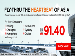 Fly thru the Hartbeat of Asia from SGD91.40 with AirAsia