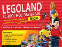 Tune Hotel and Legoland School Holiday Break Offer from RM568