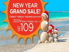 New Year Grand Sale! | 3D2N Hotel+Flights+Tax from SGD109/pax on AirAsiaGo