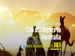 Enjoy $30 Discount on Flight Tickets to Australia for DBS Cardholders with CheapTickets.sg
