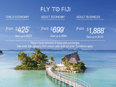 Fly to Fiji from SGD699 with Fiji Airways