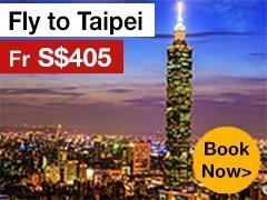 Round-trip to Taipei from S$421* ALL IN