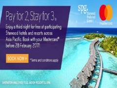 Stay 3 Pay 2 in Sheraton Tower Singapore with MasterCard