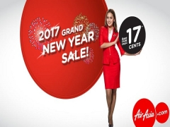 Travel more in 2017 from 17 Cents with AirAsia
