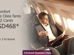 Two-to-Travel Business Class Special, from SGD468 per person, with ANZ Cards