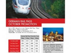 German Rail Pass October Promotion