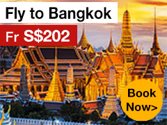 Round-trip to Bangkok from S$202* ALL IN
