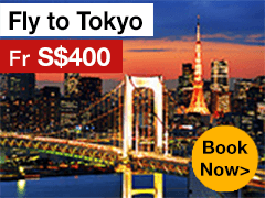 Round-trip to Tokyo from S$400* ALL IN