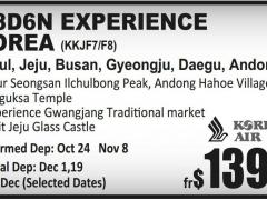 7/8D6N Experience Korea