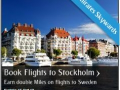 Book Flights to Stockholm and Earn double Miles