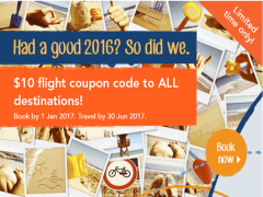 Enjoy SGD10 Savings on Flights to All Destinations with Zuji
