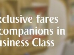 Exclusive Fares for Companions in Business Class from SGD 3,495 for Two Pax, Enjoy 50% Off