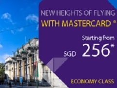 Travel in Economy Class from SGD256 with Thai Airways and MasterCard