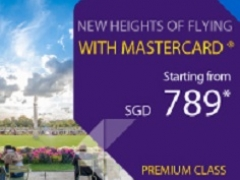Fly in Premium Class from SGD789 with Thai Airways and MasterCard