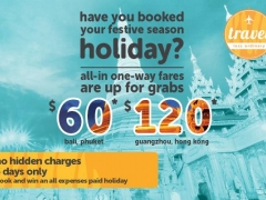 Book for Nov/Dec Holidays with $60 All-in One-Way Fares to Bali, Yangon and More!