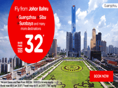 Fly from Johor Bahru to more Destinations with AirAsia from SGD32