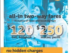 Tigerair : All in two-way fares from SGD120!