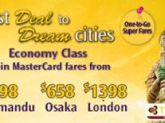 Best Deal to Kathmandu, Osaka and London from $598