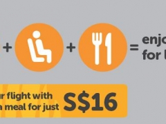 Enjoy a meal and seat selection at only S$16 with a new flight combo