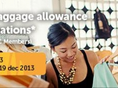 15kg free baggage allowance to all destinations* (exclusively for NTUC Members)