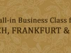 Enjoy Exceptional Business Class Fares to Zurich, Frankfurt and Paris