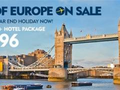 Best of Europe on Sale - 3D2N Flight & Hotel from $1,296
