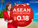 Travel Around ASEAN from SGD0.18 and Celebrate ASEAN@50 with AirAsia