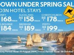 Down Under Spring Sale, 4D3N Hotel Stays
