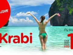 New Direct Flights to Krabi, SGD 10*!