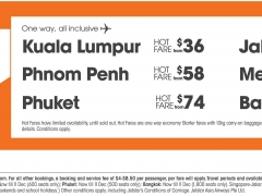 Hot Fares starting from SGD36!