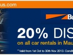 Exclusive 20% Budget Discount on All Car Rentals when You Book with Air Mauritius!