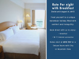 Rate per Night with Breakfast from RM318 in The Royale Bintang Seremban
