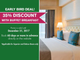 Early Bird Deal with 35% Discount and FREE Breakfast in The Royale Bintang Penang