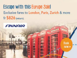 Escape with Europe Sale via Zuji and Finnair from SGD826